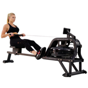 Sunny Health & Fitness Water Rowing Machine w/LCD Monitor - Obsidian SF-RW5713