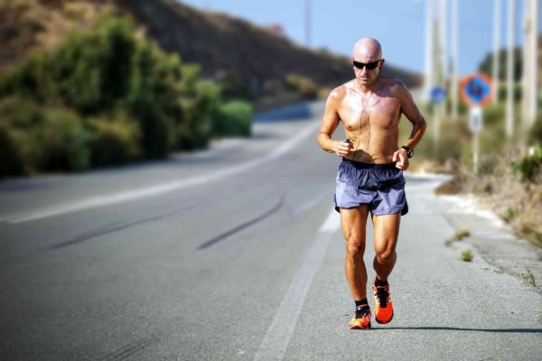 Man jogging to keep fit