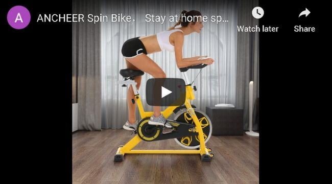 ANCHEER Indoor Exercise Bike B3008