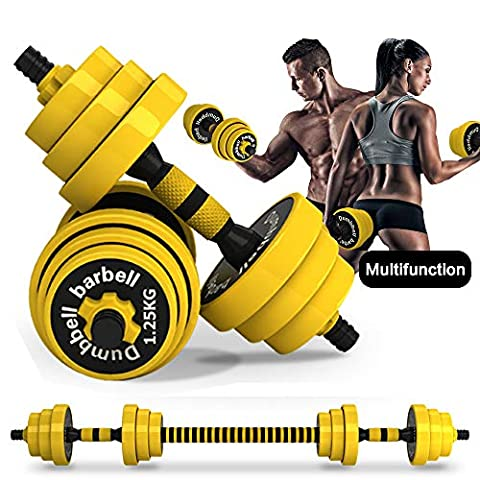 DDFE Adjustable Dumbbell Barbell Set
