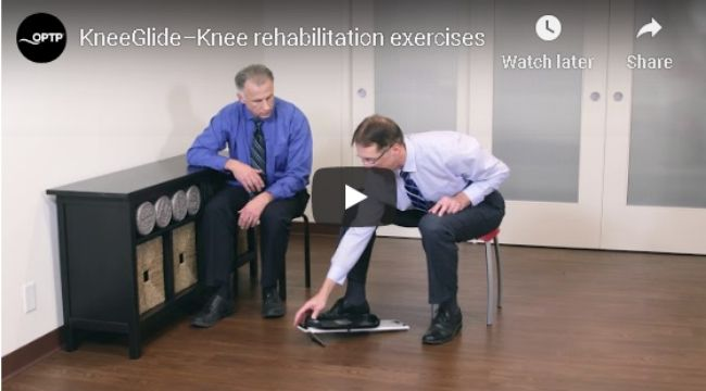 Knee Glide Rehabilitation Exercises