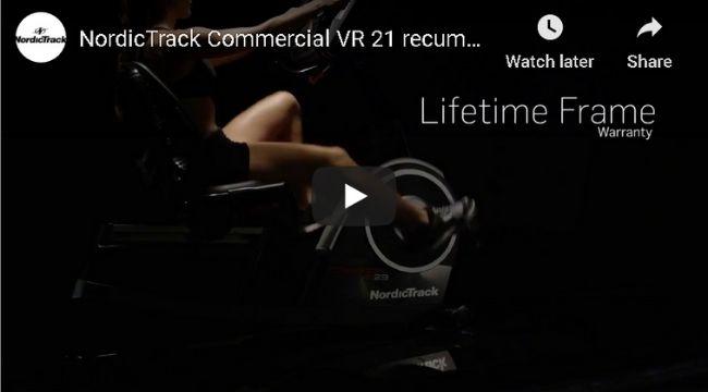 Nordic Track Commercial VR21 Recumbent Bike NTEX76016