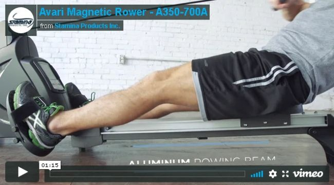 Stamina Avari Programmable Magnetic Exercise Rower A350-700