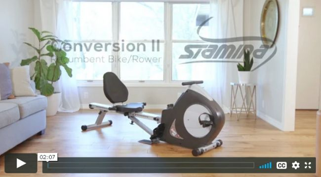 Stamina Conversion II Recumbent Bike Rower SKU15-9003B