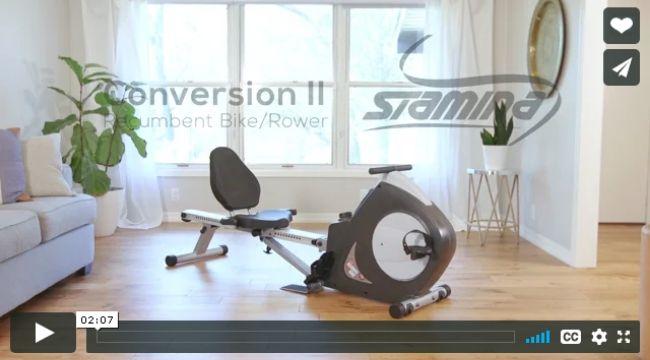 Stamina Conversion II Recumbent Bike_Rower SKU15-9003B