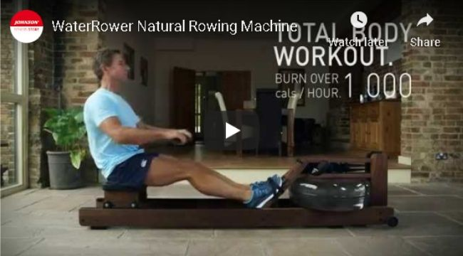 Water Rower Natural Rowing Machine in Ash Wood with S4 Monitor 100